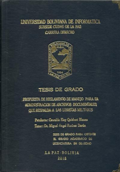 Propuesta de reglamento de manejo para la administración de archivos documentales que respalda a las libretas militares